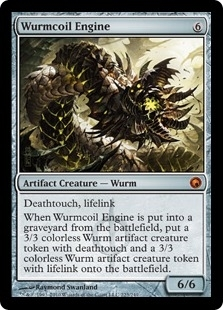 Magic the Gathering Scars of Mirrodin Single Wurmcoil Engine Foil - NEAR MINT (NM)