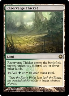 Magic the Gathering Scars of Mirrodin Single Razorverge Thicket Foil