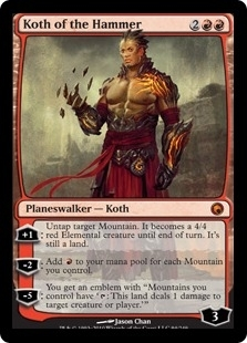 Magic the Gathering Scars of Mirrodin Single Koth of the Hammer - SLIGHT PLAY (SP)