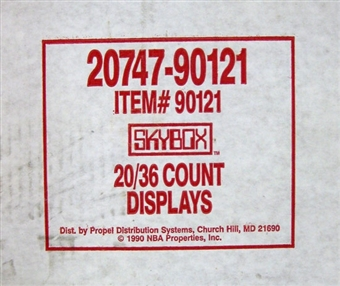 1990/91 Skybox Series 1 Basketball Wax 20-Box Case