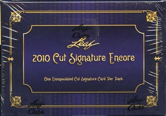 2010 Leaf Cut Signature Encore Hobby Box