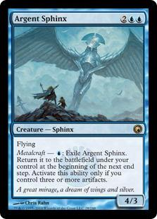 Magic the Gathering Scars of Mirrodin Single Argent Sphinx Foil