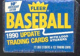 1990 Fleer Update Baseball Factory Set (5 Set Lot)