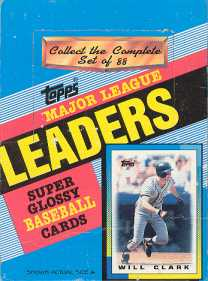 1990 Topps League Leaders Baseball Wax Box