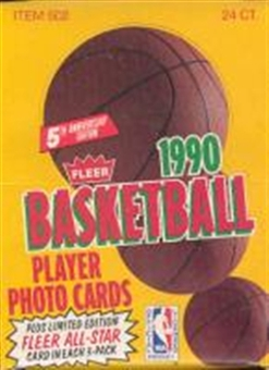 1990/91 Fleer Basketball Rack Box