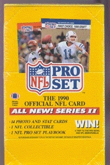 1990 Pro Set Series 2 Football Wax 20-Box Case