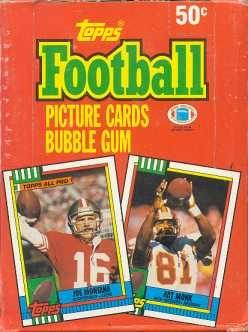 1990 Topps Football Wax Box