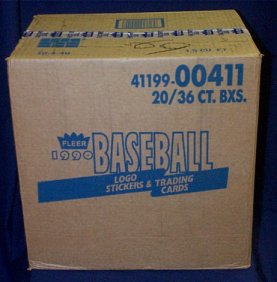 1990 Fleer Baseball Wax 20-Box Case
