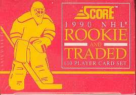 1990/91 Score Rookie & Traded Hockey Factory Set