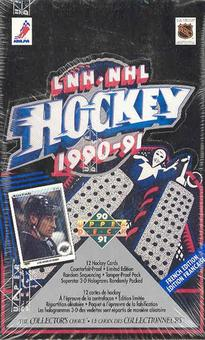 1990/91 Upper Deck French Low # Hockey Wax Box