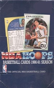 1990/91 Hoops Series 1 Basketball Wax Box
