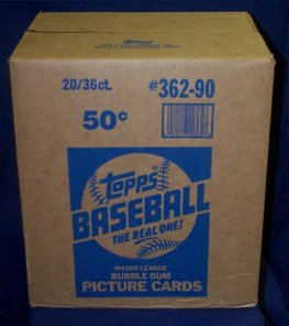 1990 Topps Baseball Wax 20-Box Case