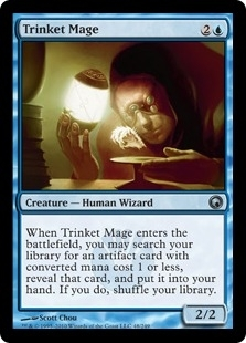 Magic the Gathering Scars of Mirrodin Single Trinket Mage FOIL