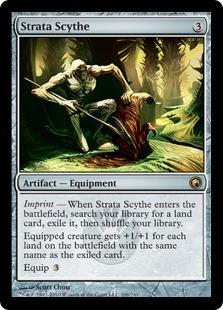 Magic the Gathering Scars of Mirrodin Single Strata Scythe FOIL