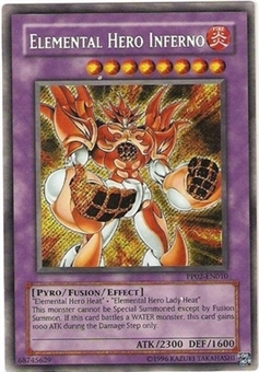 Yu-Gi-Oh Premium Pack 2 Single Elemental Hero Inferno Secret Rare