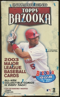 2003 Topps Bazooka Baseball 24 Pack Box