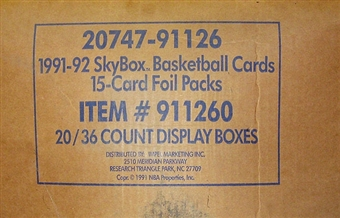 1991/92 Skybox Series 1 Basketball Hobby 20-Box Case