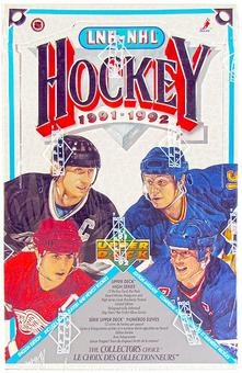 1991/92 Upper Deck English #Hi Hockey Retail Box