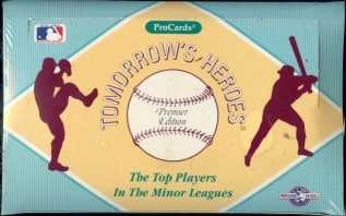 1991 Pro Cards Tomorrow's Heroes Baseball Hobby Box