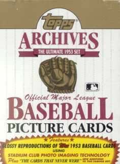 1991 Topps Archives (1953) Baseball Wax Box