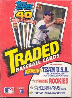 1991 Topps Traded & Rookies Baseball Wax Box