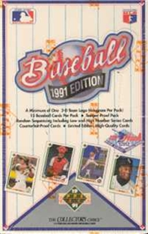 1991 Upper Deck Hi # Baseball Wax Box