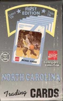 1989/90 Collegiate Collection North Carolina Basketball Hobby Box - Jordan!