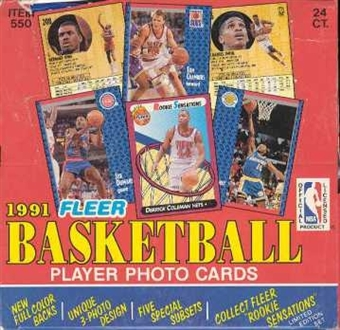 1991/92 Fleer Basketball Cello Box