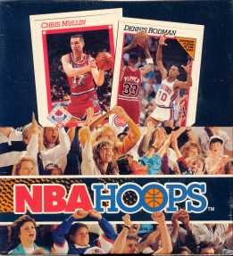 1991/92 Hoops Series 1 Basketball Rack Box