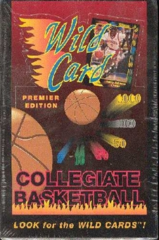 1991/92 Wild Card Collegiate Basketball Hobby Box