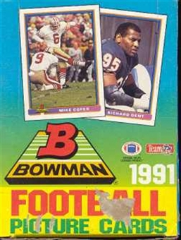 1991 Bowman Football Wax Box