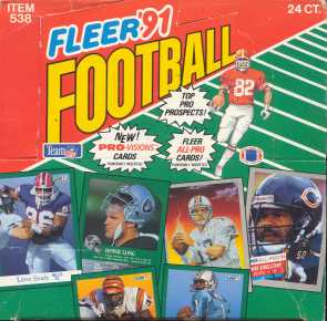 1991 Fleer Football Jumbo Box