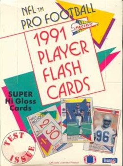 1991 Pacific Flash Cards Football Wax Box