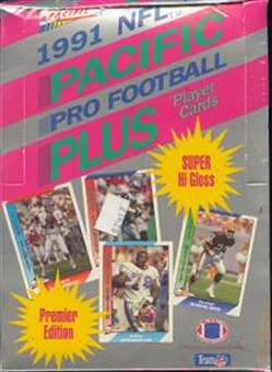 1991 Pacific Plus Series 1 Football Wax 20-Box Case