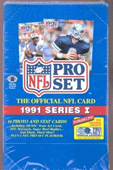 1991 Pro Set Series 1 Football Wax Box