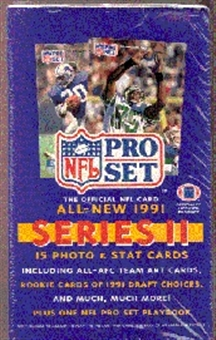 1991 Pro Set Series 2 Football Wax Box