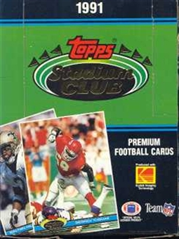 1991 Topps Stadium Club Football Wax Box - Favre Rookie!