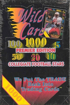 1991 Wild Card Collegiate Football Hobby Box