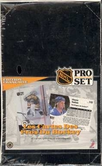 1991/92 Pro Set French Series 1 Hockey Box