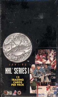 1991/92 Pro Set Platinum Series 1 Hockey Hobby Box