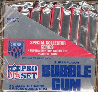 1991 Pro Set Super Bowl XXV Collector Series Football Wax Box