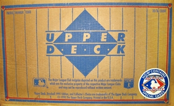 1991 Upper Deck Low # Baseball 20-Box Wax Case
