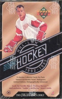 1992/93 Upper Deck Series 2 Hockey Retail Box