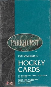 1992/93 Parkhurst Series 1 Hockey Hobby Box