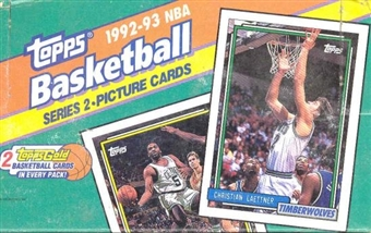 1992/93 Topps Series 2 Basketball Jumbo Box