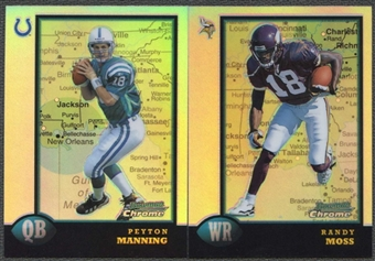 1998 Bowman Chrome Interstate Refractors Football Complete Set (NM-MT)