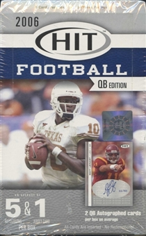 2006 Sage Hit Football QB Edition Hobby Box