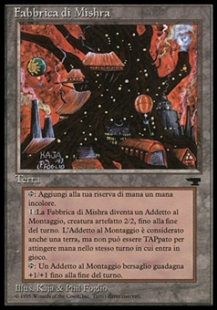 Magic the Gathering Rennaisance Single Mishra's Factory (Fall) Italian - SLIGHT PLAY (SP)