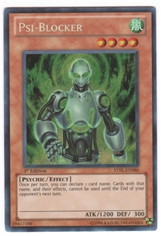 Yu-Gi-Oh Starstrike Blast Single Psi-Blocker Secret Rare