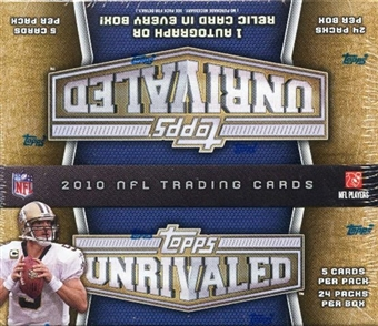 2010 Topps Unrivaled Football 24-Pack Box
